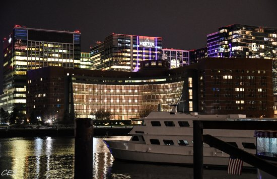 Boston Harbor Hotel: View from the water side of the hotel.