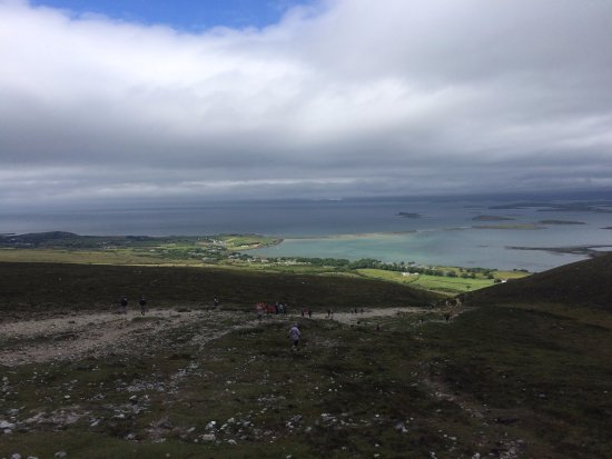 County Mayo, Ireland: The view from the top is spectacular.