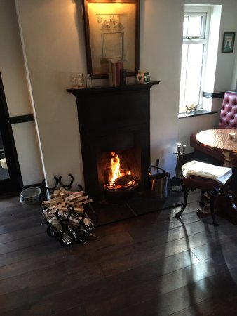 Our cosy bar fire...