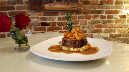 Greencastle, IN: Mile high meatloaf. You'll always enjoy contemporary cuisine - classics with a twist