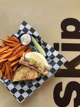 Lawrence, KS: Turkey Melt and Sweet Potato Fries