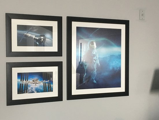 Webster, TX: NASA themed pictures hang in the rooms.