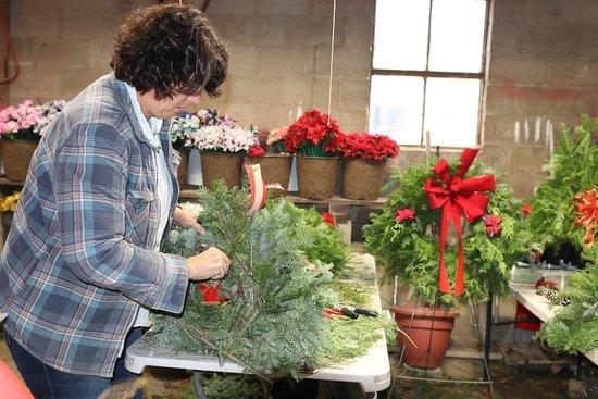 Lapeer, MI: Working hard on custom wreaths!