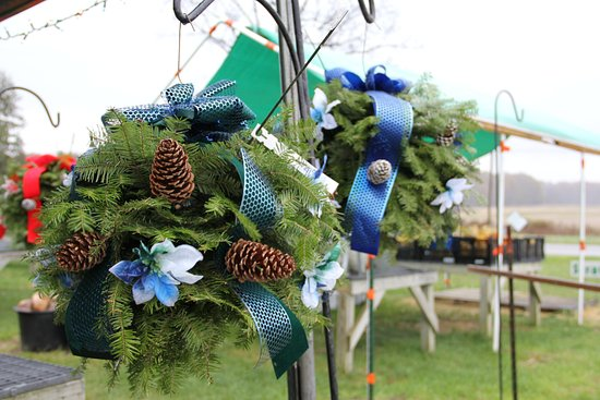 Lapeer, MI: Our beautiful kissing balls will make a great replacement to your hanging flowers
