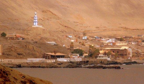 Vista general del pequeño poblado de Pisagua.