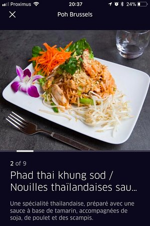 Poh Refined Thai Cuisine: one of our most popular dishes and essentially thai street food, Pad Thai