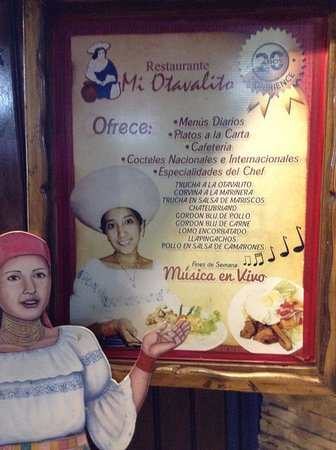 Mi Otavalito: Inviting welcome sign out front