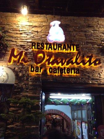 Mi Otavalito: Beautiful illuminated sign at night, right on Sucre