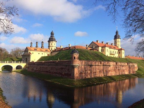 Nesvizh, Białoruś:  вид на замок