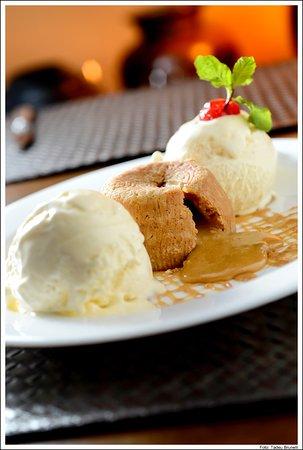 Lava Cake with Vanilla Ice Cream Dulce de Leche Picture of Coco