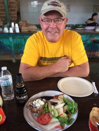 Mc-Fisher: Enjoying fresh grilled Yellow Tail tuna.