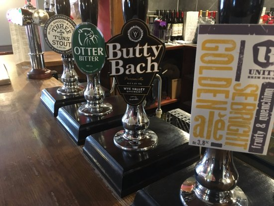 The Fox and Hounds at Lulsley: Beer Line-up