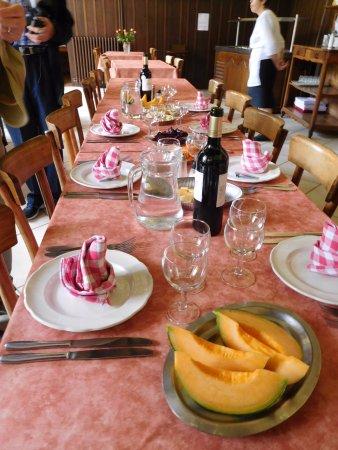 L'hostellerie de l'Eveche: our table