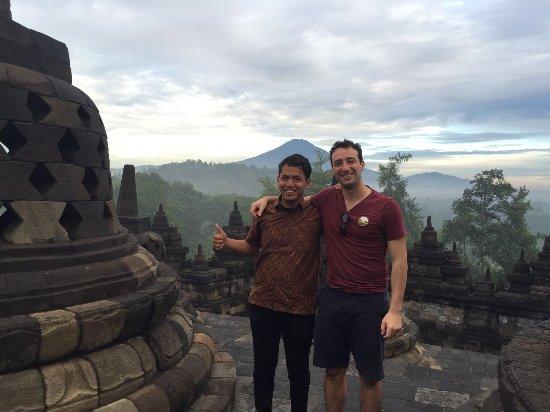 Sleman, Indonesia: Borobudur sunrise with Sergio and Hitomi