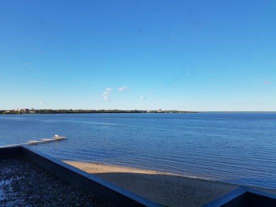 facing north and lake Bemidji