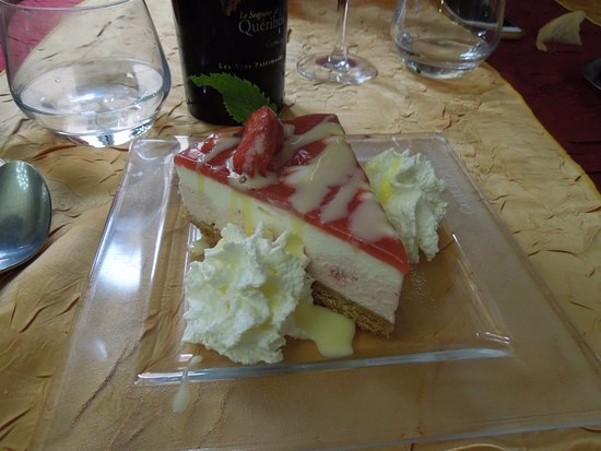Cucugnan, France: wonderful/unhealthful dessert, sinfully delicious