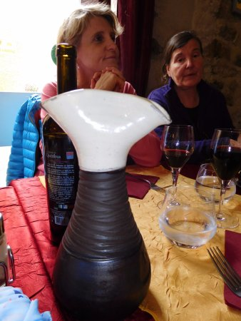 Cucugnan, France: unusual carafe