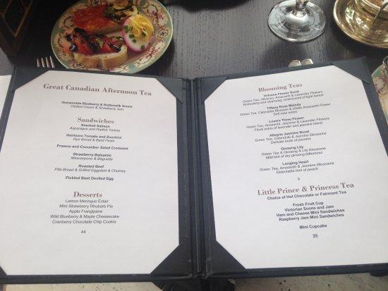 your high tea outline menu picture of zoe s ottawa tripadvisor