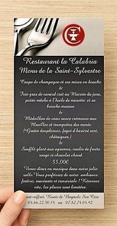 Saint-Siffret, Francia: voici le Menu de la Saint-Sylvestre 2018