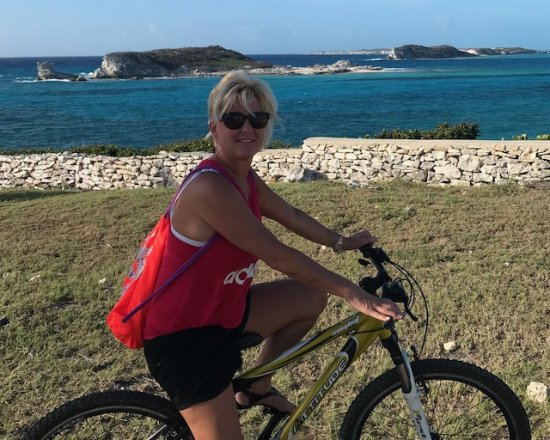 South Caicos: bicycling about 5 minutes from the resort
