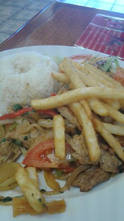 Doral, FL: Lunch special main with pork..delicious