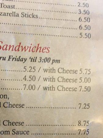 Pretty big menu