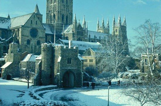 リーズ城、カンタベリー、ドーバー、ロンドンからのクリスマスイブのグリニッジ