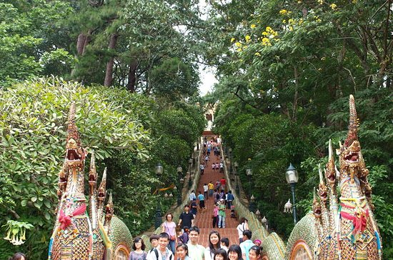 Doi Suthep temple, White temple and hiking to Khun korn waterfall in...