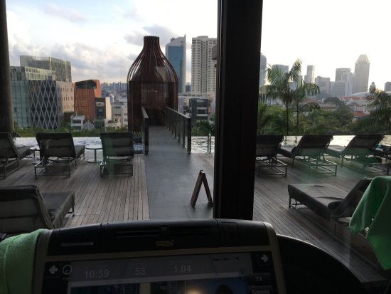 PARKROYAL on Pickering: Tough workout on the treadmill taking in this view!