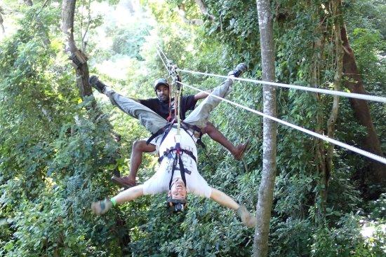 Roatan Shore Excursion Zip N Dip Canopy Tour
