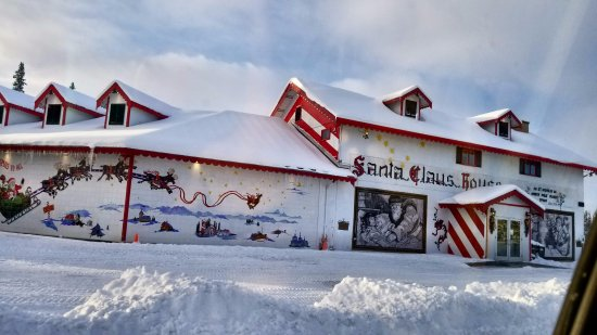 Santa Claus House: Part of the outside of Santa Claus's House.