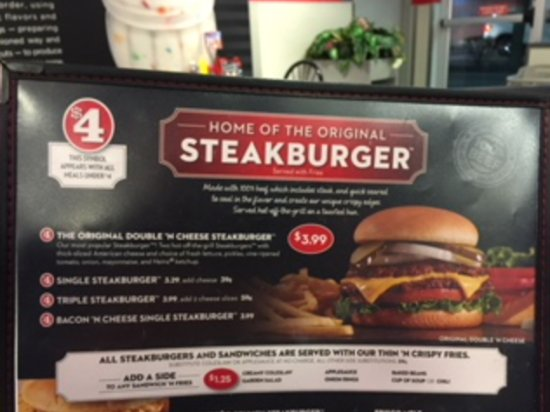 Galesburg, IL: Menu photo of their Original Double Cheese Steakburger
