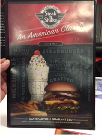 Galesburg, IL: Menu front cover