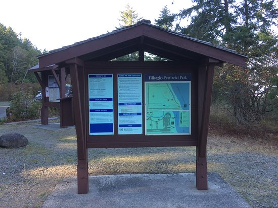 Denman Island, Kanada: Kiosk at Fillongley Park