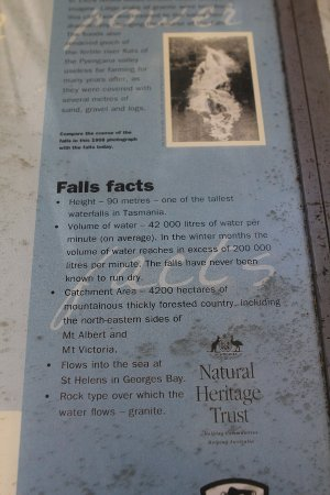 St Helens, Australia: Lots of info available on the falls