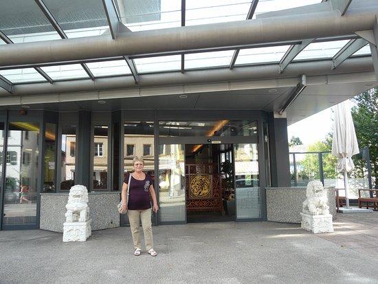 Wetzikon, สวิตเซอร์แลนด์: Кафе со львами в Ветциконе