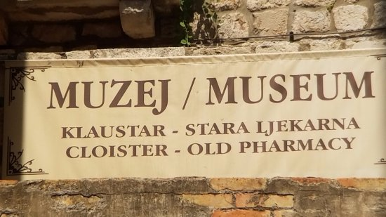 Franciscan Monastery : Old pharmacy sign
