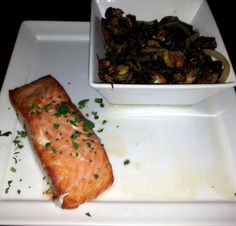 Mount Prospect, IL: plank salmon with Brussels sprouts