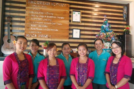 Pemaron, Indonesia: Staff