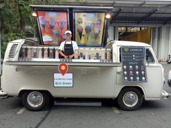 lovells ice cream vw food truck are serving icecream samsungspirit centerpointentertainment