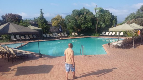 Winterton, South Africa: the pool in the morning while eating breakfast
