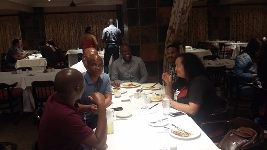 Winterton, South Africa: first night of dinner