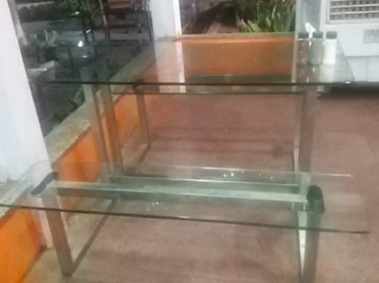 Glass Bench Table Top In Restaurant At Mapro Garden Factory - Restaurant glass table tops