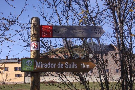 Laspaules, Spanje: Caminos bien señalizados