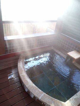 Shibata, Japan: 露天風呂