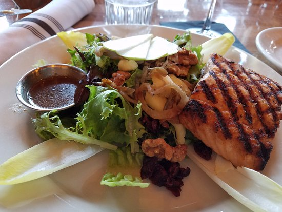 Yarmouth, ME: Autumn salad with grilled salmon