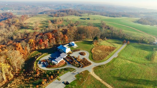 Coatesville, PA: An aerial view of the preserve center. Photo: Mark Williams