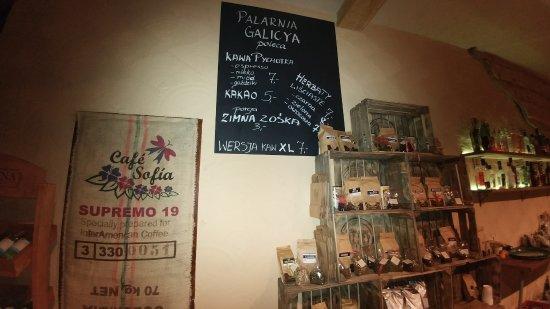 Sanok, Poland: kawiarnia Galicya z możliwością kupna kawy na wagę