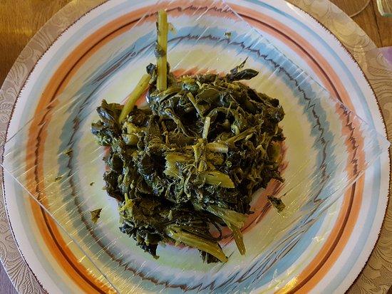 Castiglione in Teverina, Italia: Cime di rapa ripassate (piatto vegan)