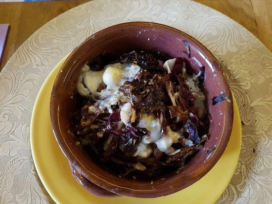 Castiglione in Teverina, Italia: Terrina con radicchio e formaggio
